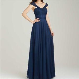 Allure Bridesmaid Style 1450 Navy Tulle Dress 10